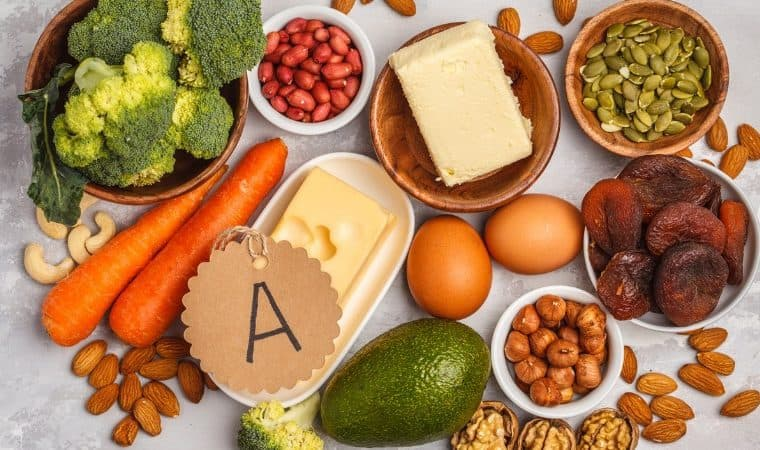 Healthy Food Nutrition Dieting Concept Assortment Of High Vitamin A Picture Id950608692 760×450