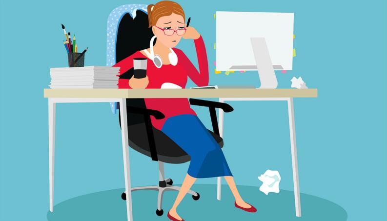 Sedentário No Trabalho (Foto: Bablab/IStock)