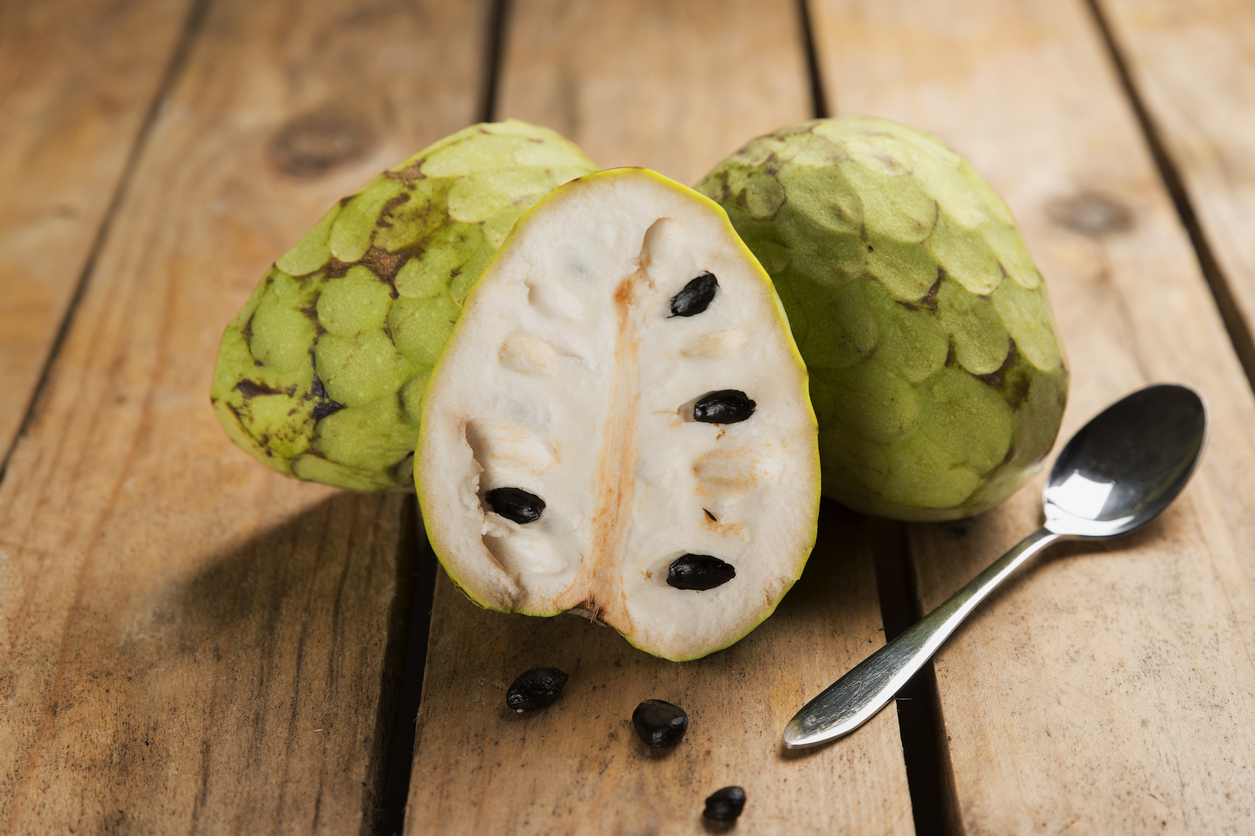Chirimoya Tropical Fruit With A Sweet Flavor And Intense